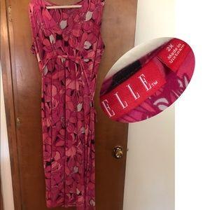 Summery long pink dress by Elle. Plus size 2x.